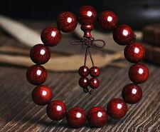 Indian Mysore lobular rosewood round bead bracelet Buddhist prayer beads #398
