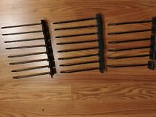 """6"""" Inch Special tubular Hooks for Retail Display Black- Used Lot of 22 pc"""