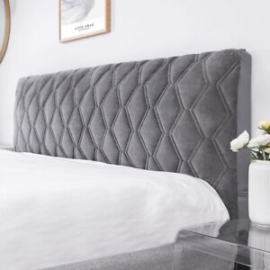 Quilted Bed Headboard Cover Bed Head Slipcover Velvet Thicken Back Protection