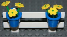 ☀️NEW LEGO City White Fence w/ Flowers Belville House Garden Girl Minifigure #3
