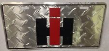 International Harvester License Truck Plate IH Tractor Combine Logo Diamond
