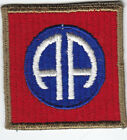 Original WWII US Army 82nd  Airborne Division Patch - OD Border, Ribbed, No Tab