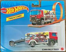 Hot Wheels 2021 Track Stars Scania Rally Truck #GRV11 1:64 Scale Diecast