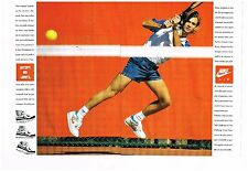 Publicité advertising 1989 (2 pages) trainers nike air with andre agassi