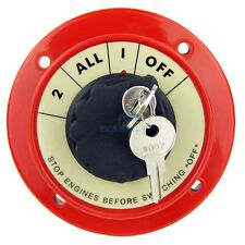 Marine Dual Battery Selector Switch Safety Shut Off Disconnect Switch With Lock