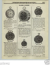 1919 PAPER AD New Haven Waterbury Alarm Clock Sunrise Call Ingraham Radium