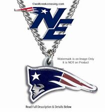 NEW ENGLAND PATRIOTS NECKLACE for MALE OR FEMALE - FOOTBALL SPORTS  FREE SHIP CB