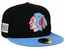 Exclusive Chicago Blackhawks New Era City Flag Collection 59FIFTY Black  7 1/2