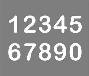Selbstklebende Aufkleber Mülltonne Zahlen Startnummern Tür Hausnummer FOIL0106