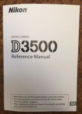 NIKON D3500 Reference Manual  - Full Colour Printed & Professionally Bound A5