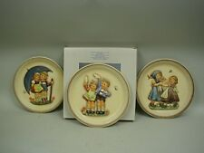 """Hummel 10"""" Anniversary Plates by Goebel - Collector Set 1975-1980-1985"""