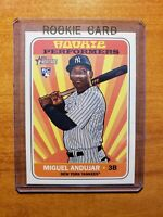 Miguel Andujar 2018 Topps Heritage High# Rookie Performers #RP-MA NY Yankees RC