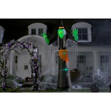 12 ft. Pre Lit Inflatable Lightshow Short-Circuit Green Witch with Clothing