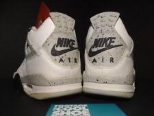 1999 NIKE AIR JORDAN IV 4 RETRO OG WHITE BLACK CEMENT GREY BRED 136013-101 8.5
