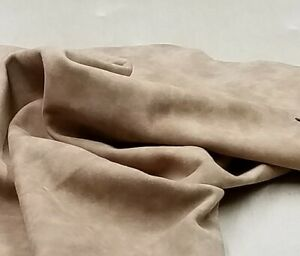 Tan Marbled Suede Kid Skin Leather 5.5sf Crafts Binding Handbag Upholstery