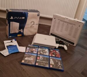 PS4 Pro Playstation 4 Destiny 2 Special Edition 1TB Console Bundle With 6 Games