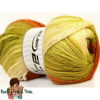 Magic Light Ice Yarn COPPER GREEN Acrylic Worsted #4 Weight 393 yards 100gr