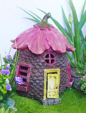 "8"" Tall Fairy Garden House Flower Roof"