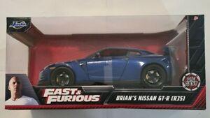 FAST AND FURIOUS BRIANS NISSAN GT-R R35 JADA 1/24 VVHTF