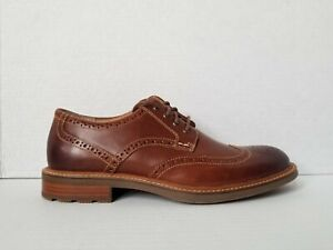 Sperry Top-Sider Annapolis Wingtip Oxford  Leather Dark Tan Mens Size 9.5 New
