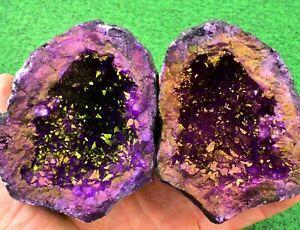 Quartz Geodes Coloured Whole-Matching-Pair, Sugar- Quartz UK BUY✔ 11cm #6