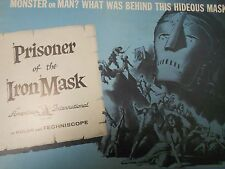 The Prisoner of the Iron Mask (1961) Pietro Albani, Silvio Bagolini PRESSBOOK