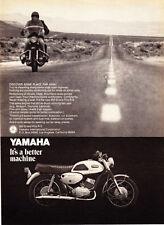 "1969 Yamaha 350 Grand Prix R-3 Motorcycle photo ""Discover Far Away"" promo ad"