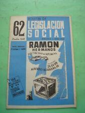 REVISTA - MAGAZINE BOLETIN DE LEGISLACION SOCIAL Nº 62