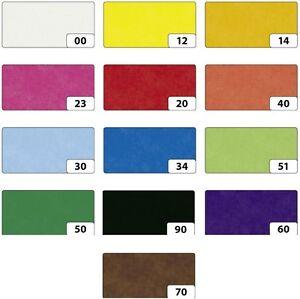 Transparentpapier Papier basteln 42g/m² 70x100cm 25 Blatt in einer Farbe UNI
