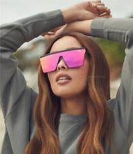 New Quay Australia Women Men Hindsight Pink Black Square Flat Sunglasses Eyewear
