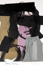 Mick Jagger V A1 by Andy Warhol High Quality Canvas Art Print
