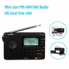 TIVDIO V-115 FM/AM/SW Mini  Radio World Band Receiver MP3 Player +Battery US NEW