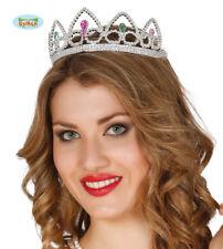 Corona Diadema Argento Principessa Bambina Compleanno Regina