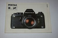 VINTAGE INSTRUCTIONS MANUAL FOR PENTAX IL X CAMERA LANGUAGE IN SWEDEN