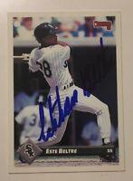 1993 Donruss Signed ESTABAN ESTE BELTRE Baseball Card TOUGH!