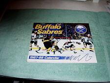 NHL BUFFALO SABRES 1987-1988 PICTORIAL CALENDAR NICE COND!