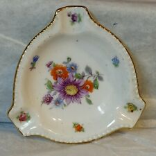 """Vintage Bovaria Germany 7 Colorful Floral Ashtry 3"""" x 3"""" used"""
