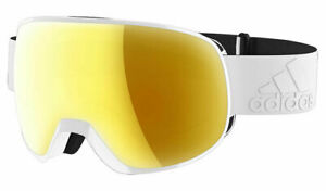 Adidas Progressor S Snow Goggle Shiny White/Gold Mirror