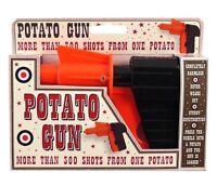 Spud Gun Metal Die Cast Retro Gun Potato  Water Pistol Toy Gun Dressing Costume