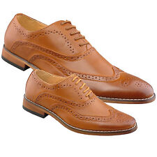 Mens Boys Black Brogue Lace up Leather Lined Shoes Express Delivery UK 7