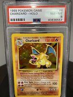 Charizard 1999 Pokemon Base Set Holo PSA 8🔥RARE MINT🔥HOLY GRAIL REGRADE PSA 9?
