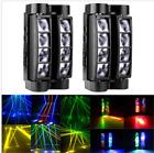 220V 2pcs LED RGBW 8x3W Head Moving Stage Beam Light DMX512 Disco DJ Show Lights
