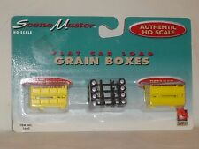 LIFE-LIKE TRAINS HO SCALE SCENE MASTER FLAT CAR LOAD GRAIN BOXES #1660