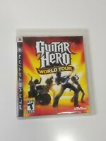 Guitar Hero: World Tour (Sony PlayStation 3 PS3, 2008) missing manual