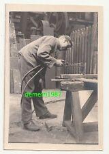 Foto fabbro saldatore durante il lavoro vaporetti cantiere Charleville 1 WK ww1! (f2107