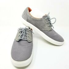 Crocs Citilane Mens m11 US Lace Up Sneaker Dual Comfort Canvas Grey Orange