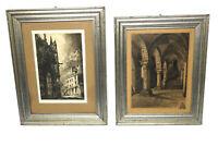 2 x Original Radierungen Frankreich Mont Saint Michel