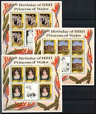 Granada 1982, 21st Cumpleaños de princesa de Gales estampillada sin montar o nunca montada Fascículos Set #D32824