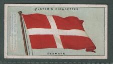 The Flag Of Denmark Danish 1920s Ad Trade Card