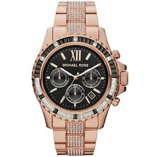 NEW MICHAEL KORS MK5875 - LADIES EVEREST WATCH  - CRYSTALS ROSE GOLD TONE